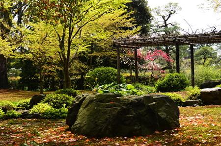 花桃咲く平安の庭