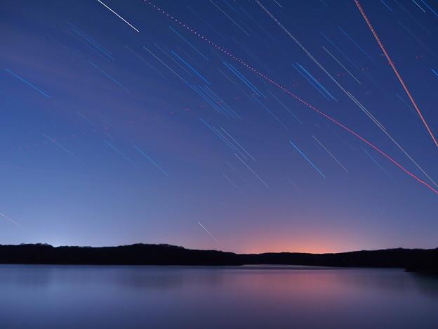 星降る狭山湖