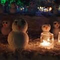 Photos: 東川町氷まつりにて 雪だるま 夜