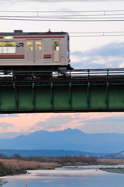 多摩川橋梁を渡る205系快速むさしの号