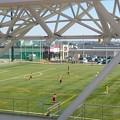 写真: 今日も浜北総合体育館グリーンアリーナきたよー。浜北平口サッカー場グリーンフィールドでHonda FCユースっぽいのがなんか試合してたー。