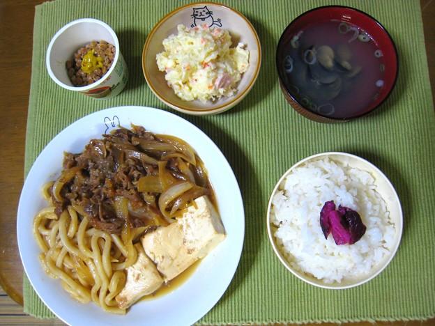 肉豆腐定食風・・・