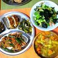 Photos: ピーマンと豚肉の味噌炒め定食風…