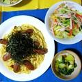 Photos: 高菜とソーセージのスパゲッティ・・・