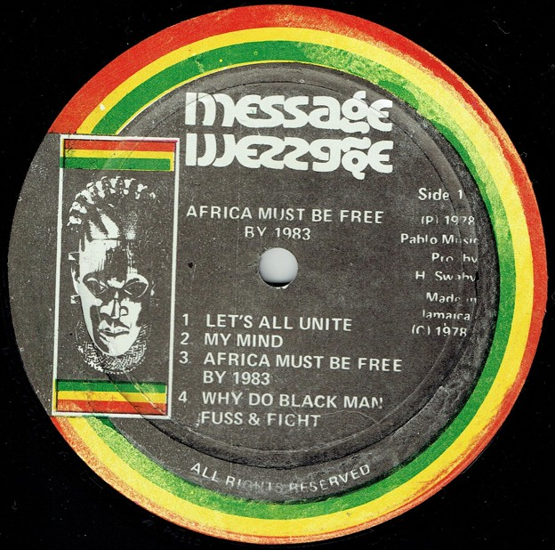 AFRICA MUST BE FREE BY 1983.-3