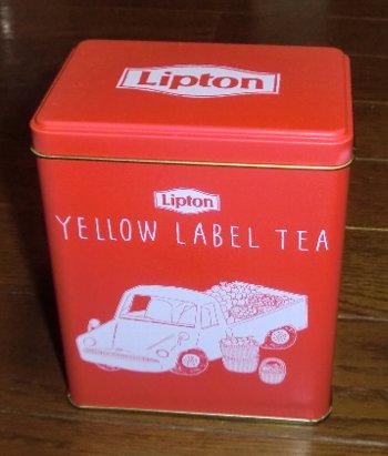 リプトン イエローラベル ティーバッグ 専用缶ケース