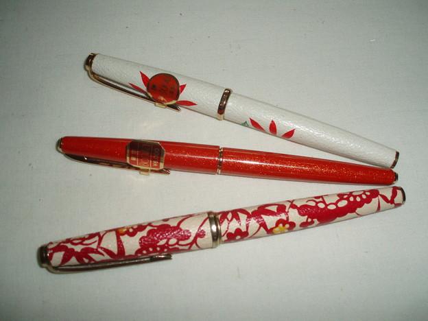 プラチナ万年筆 赤 未使用-09