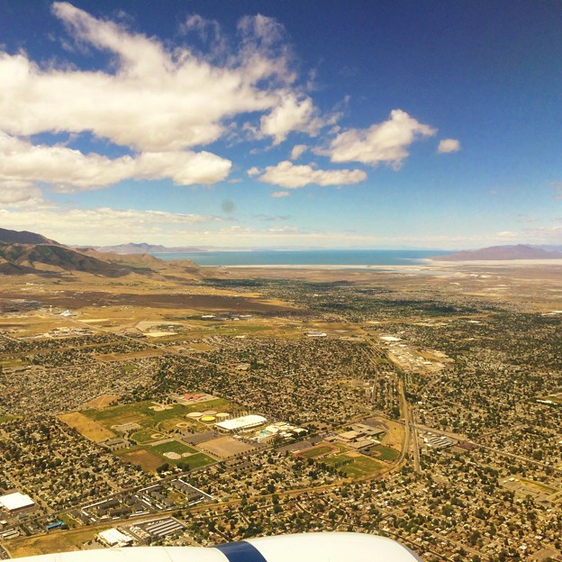 Great Salt Lake and Salt Lake Valley from the Sky
