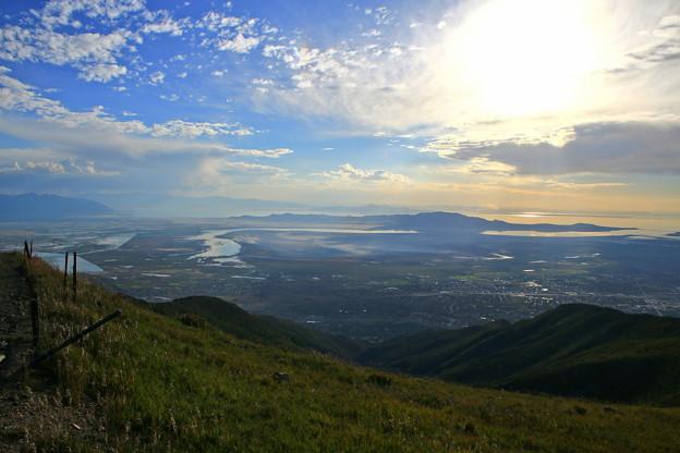 裏山から見るGreat Salt Lake&Antelope Island