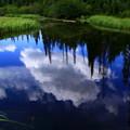 写真: 湖の中の青空♪