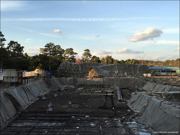 Photos: 遺跡発掘現場の日暮れ