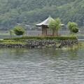 Photos: 浮島上に建つ六角堂