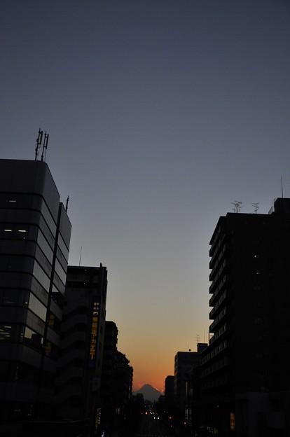 Photos: 12月21日、日没後の富士見テラスから(5)