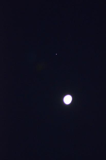 1月28日未明、月と木星が接近