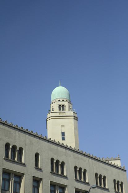 2月28日、シャトルバスから-横浜税関(クイーンの塔)