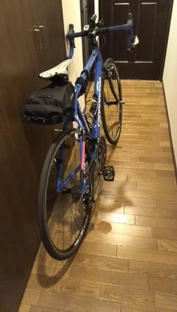 自転車整備と装備を完了