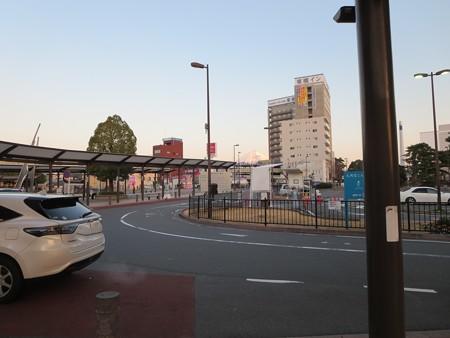 三島駅から富士山がはっきりと見えていました