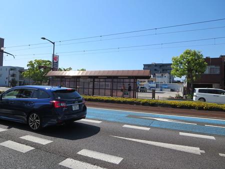 豊橋の路面電車の駅