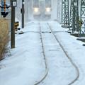 写真: 極寒を走る