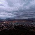 写真: 長崎は今日も曇りだった