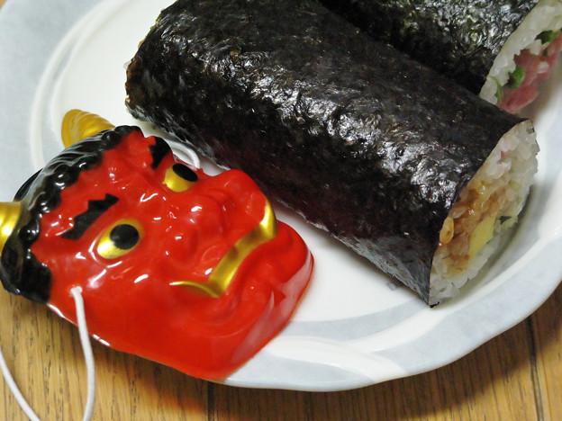 恵方巻と… posted by © さちどん ... : お面 鬼 : すべての講義
