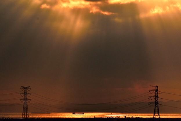 光芒の東京湾