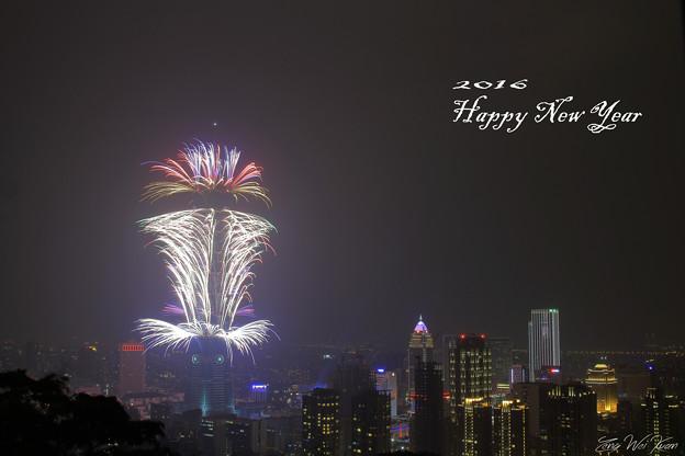 Taipei101の花火
