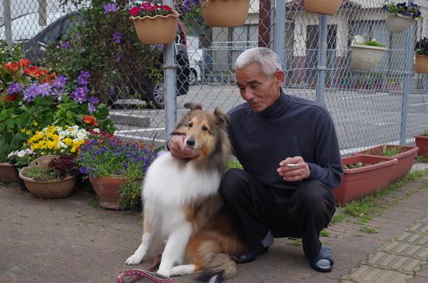 タバコ屋のおじちゃんと看板犬 (1)