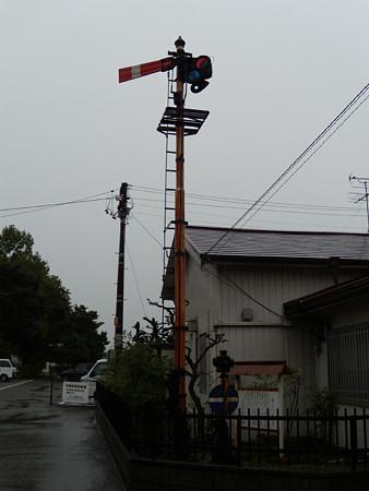 可児駅前腕木式信号機