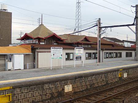 特徴的な太田川駅駅舎