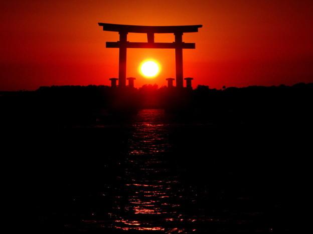 落陽…弁天島