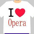 写真: I Love Opera Tシャツ♪