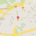 写真: Googleマップ(アプリ):最上部に「Safariへ戻る」
