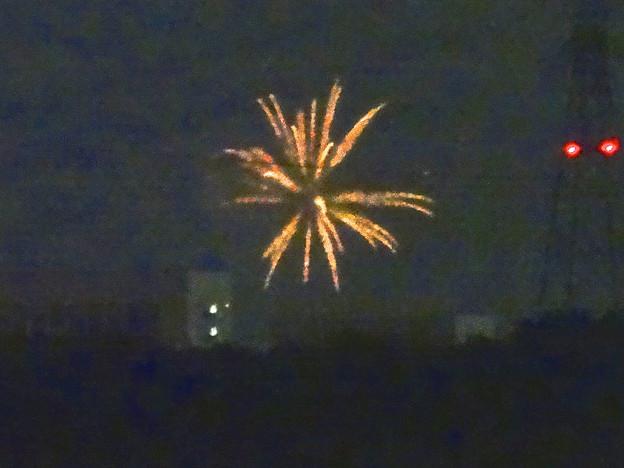 小牧市東部から見えた、「ながくて納涼まつり 2014」の花火 - 05
