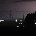 QuickTimeをフルスクリーンにして、雷の映像から写真を切り出し
