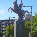 写真: 尾張旭駅前にある水野良春像 - 05