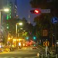 写真: 夜の久屋大通、遠くに名古屋テレビ塔 - 2