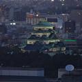 写真: 名古屋テレビ塔からの夜景 No - 09:名古屋城
