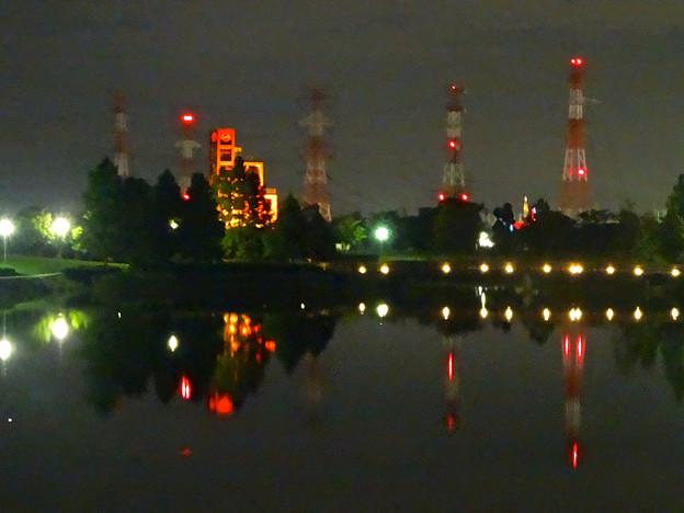夜の落合公園 No - 03:わずかに見える、瀬戸デジタルタワー