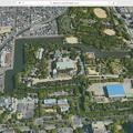 写真: El Capitanマップアプリで見た名古屋城(衛星立体画像)