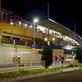 写真: 西口から見上げた、夜の名古屋駅新幹線ホーム - 1