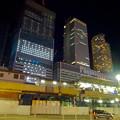 写真: 名駅西口から見た、夜の名駅ビル群 - 3