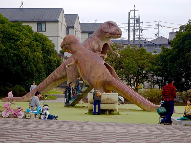 写真: 大高緑地公園 No - 8:恐竜型の滑り台!?