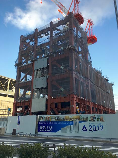 ささしまライブ24:建設途中の愛知大学の新校舎 - 1