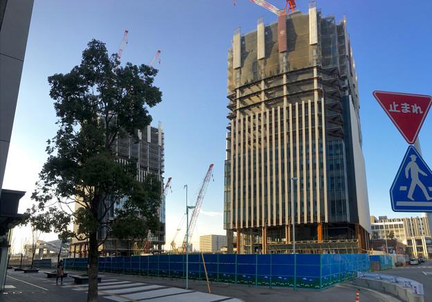 ささしまライブ24:建設途中の複合施設「グローバルゲート」 - 1