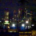 写真: 国道19号(春日井市内)から見下ろした、夜の名駅ビル群 - 3