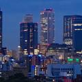 写真: 名古屋城天守閣 最上階から見た、夜の名駅ビル群 - 6