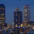 写真: 名古屋城天守閣 最上階から見た、夜の名駅ビル群 - 7