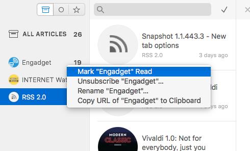 Mac用RSSリーダーアプリ「Leaf」- 3:右クリックメニュー