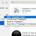 Photos: Mac用RSSリーダーアプリ「Leaf」- 3:右クリックメニュー